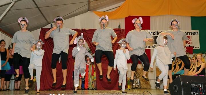 Gemeinschaftstanz Zirkus Zirkus Heimatfest