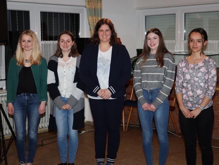 2019_Generalversammlung_07 v.l.n.r.: Eva Abler, Hanna Steur, Sophia Bogdan, Jasmina Lemberger, Emilia Padula